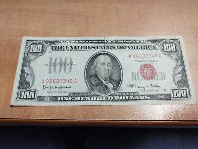 Us Note $100 Note 1966 Granahan Fowler