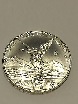 2005 Mexico 1 ONZA  (TROY OUNCE OF SILVER) Coin Silver .999  UNC KM# 639