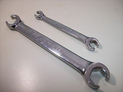 Snap On 2 Pc 6 Pt Double End Flare Nut/Line Wrenches, RXFS2426B, RXFS1214B, USA