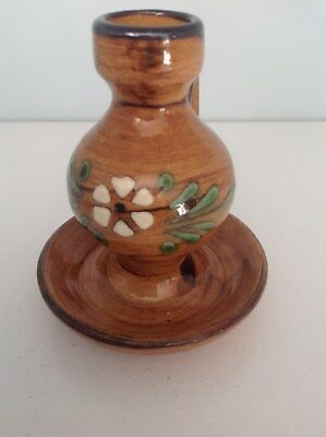 Vintage French Pottery Candlestick Holder Soufflenheim