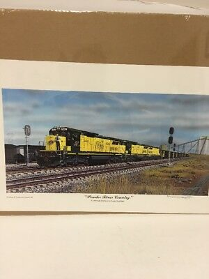 "Railroad Print ""powder River Country"" C&nw Dash 8-40C By Robert West"