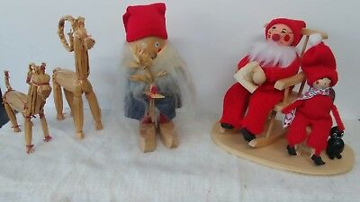 Vintage Jul Tomte / Swedish Chritmas Gnome set of four figures