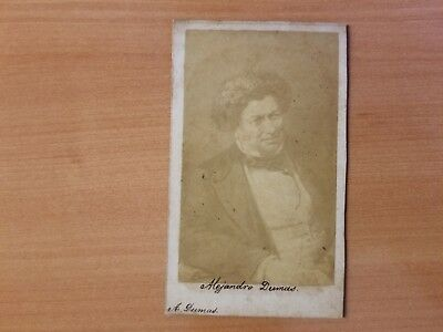 ANTIQUE FRENCH NOVELIST Alejandro Dumas  CDV PHOTO 1860s