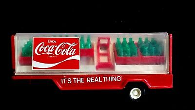 Vintage Buddy L Coca-Cola  Trailer With 5 Cases And Dolly