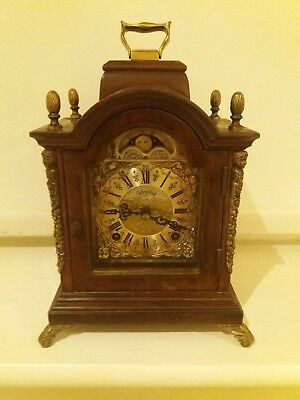 Clock Shelf Warmink Dutch Wuba Vintage Era Bracket Mantel Moon Dial 8 Day Key