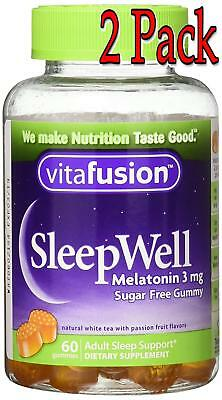 Vitafusion SleepWell Gummy, Sleep Aid for Adults, 60ct, 2 Pack 027917023106A504