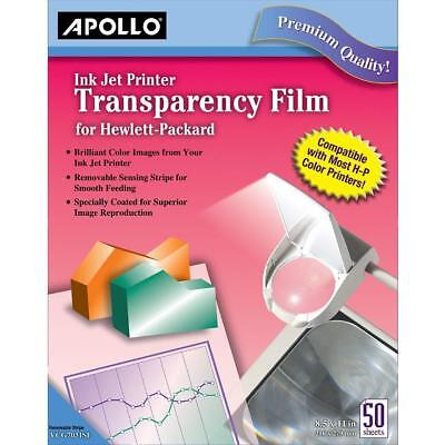 Apollo Transparency Film for Inkjet Printers, for Hewlett-Packard, 50