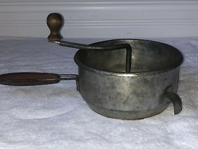 VINTAGE FOLEY FOOD MILL *ANTIQUE RICER Wood Handles GREAT RUSTIC COUNTRY GRINDER