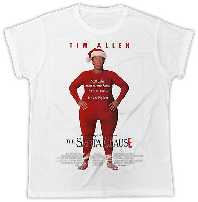 Cool The Santa Clause Movie Poster Fashion Unisex White Tshirt Ideal Gift