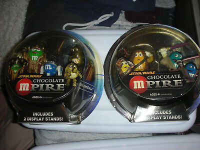 AMIDALA, MACE WINDU, CHEWBACCA, C3PO Star Wars Chocolate Mpire M&M's figures