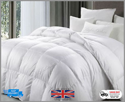Anti Allergy Hotel Quality Goose Feather & Down Duvet 4.5 Tog Quilted All Sizes