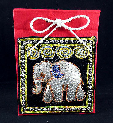 Elephant Sequin Notepad Journal Pad Unique All Handmade From Thailand