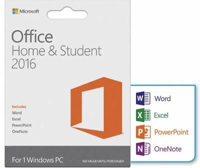 Microsoft Office Home and Student 2016 for Window 1PC Retail Product Key New