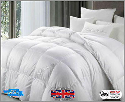Anti Allergy Hotel Quality Goose Feather & Down Duvet 15 Tog Quilted All Sizes
