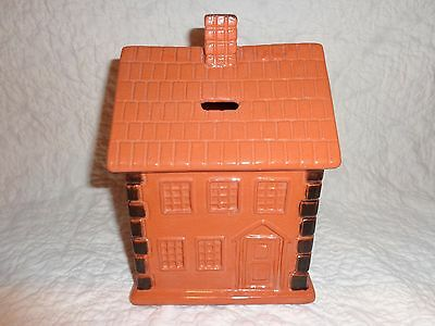 Unique Large James Seagreaves Glazed Pottery House Design Coin Bank