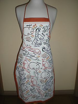 Australian Animals apron cotton NEW great gift idea for overseas