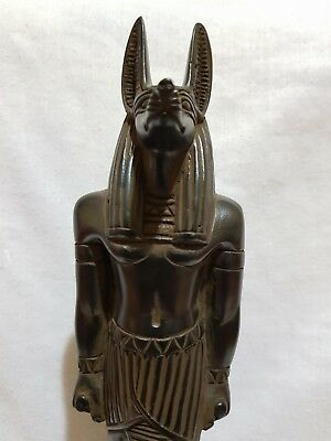 Rare Ancient Egyptian Antique Large Statue Of God ANUBIS BAZALT STONE Egypt BC