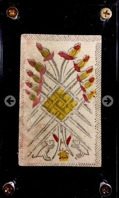 Authentic c1780 Rare Historic Antique Tarot Playing Cards Minchiate Game Single