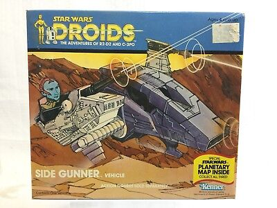 Star Wars Droids Side Gunner Vehicle Kenner 1985 Sealed In Box