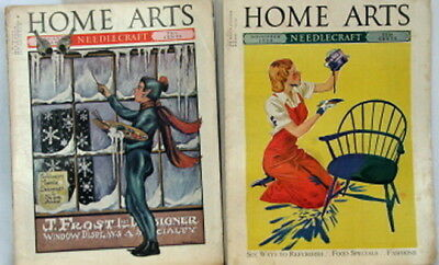 2 ANTIQUE MAGAZINES - HOME ARTS NEEDLECRAFT - NOV 1938 and JAN 1939 BACK ISSUES