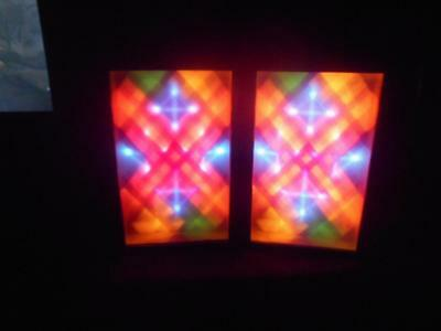 2 Vintage Realistic Color Light Organ 1970's DJ Display Sound Disco Radio Shack