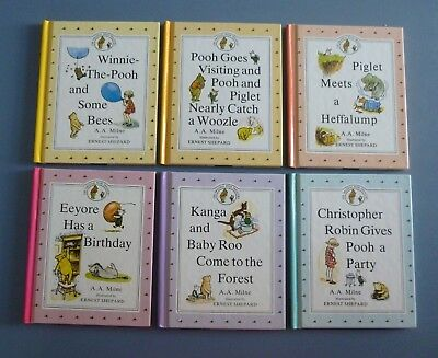 LOT/6  THE ORIGINAL WINNIE THE POOH TREASURY 1990 CHILDRENS BOOKS by A.A.MILNE