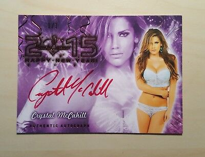 Benchwarmer New Years red auto 1/1 Crystal McCahill Autograph