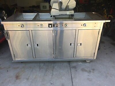 """Duke Ep305 Aerohot 72-3/8"""" Electric 5 Well Portable Hot Food Steamtable Station"""