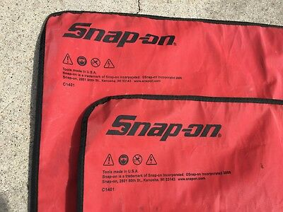 Lot of 2 Snap-On Wrench Roll Up / Screwdriver Roll Up / SnapOn Roll Up Organizer