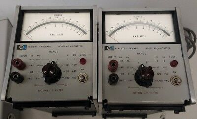 HP 400GL AC Voltmeter Set of two (2)