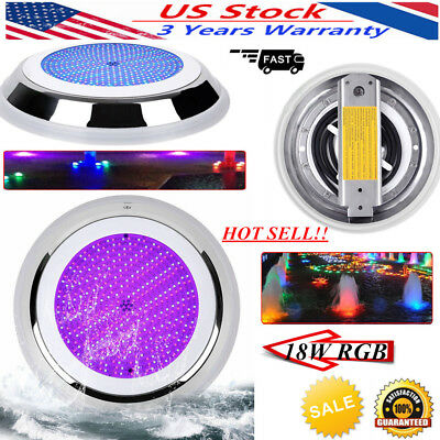 Resin Filled LED Swimming Pool Spa Lights 18W RGB 12V Underwater Lamp SMD2835