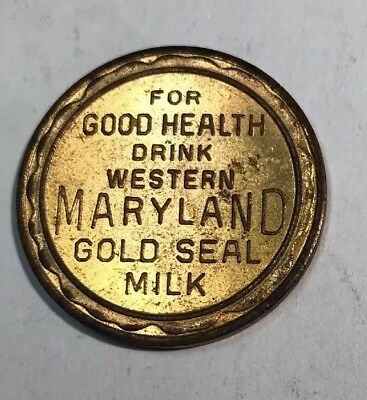 Lucky Coin Western Maryland Gold Seal Milk