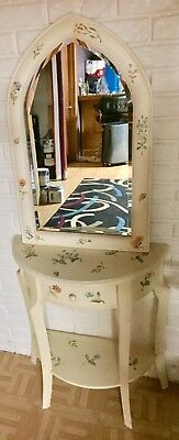 Vanity Antique Victorian Shabby Chic Mirror And Table