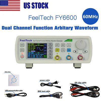 Digital FY6600 60MHz Dual-channel DDS Function Waveform Signal Generator Kit