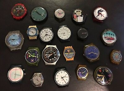 Swatch Lot Of 21 Non Working Faces Only.         Used For Art