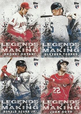 2018 Topps Update Baseball Legends In The Making Single U-Pick Complete Your Set