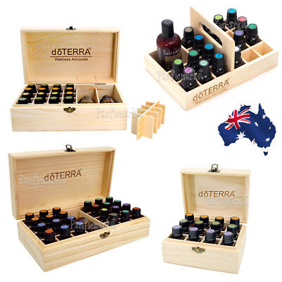 doTERRA Essential Oil Box 12-25 Slots Aromatherapy Organizer Wooden Storage Box