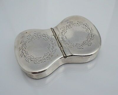 Early Dated Dutch Silver Gold Gilt Snuff Box Danish 800 833 826 Not Sterling Old
