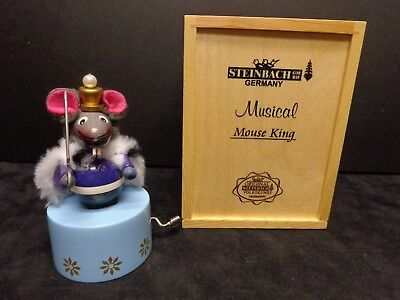 Steinbach Germany Mouse King Musical Nutcracker figure in Box