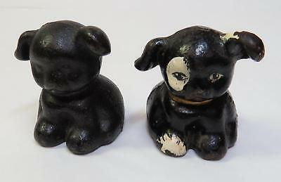 Vintage HUBLEY Advertising Cast Iron Pup DOG Paperweights FIDO - LJ Bromert Mfg