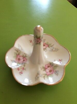 Vintage Floral  Ring Holder Dressing Table