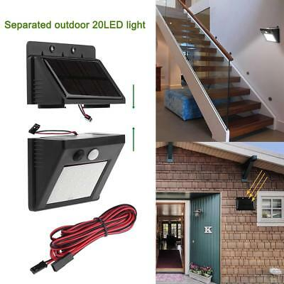 20 LEDs 5.5V Solar Power Motion Sensor Wall Light Outdoor Garden Waterproof Lamp