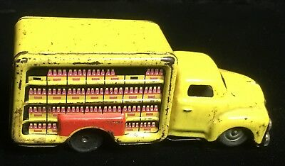 COCA COLA TOY TIN TRUCK FRICTION MADE IN JAPAN OLD VINTAGE 1950s RARE