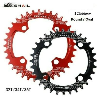 SNAIL 32 34 36T MTB Bike Single Narrow Wide Oval Chainring Chain Ring BCD 96mm