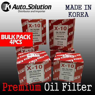 Oil Filter Z148A fits Subaru Forester 2.0L Outback Turbo Diesel Mazda 929 4PCS