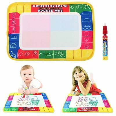 Drawing Water Pen Painting Writing Magic Doodle Mat Board Kid Boy Girl Toy Gifts