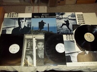 Sting Police - Lot of 8 LP's Vinyl. Rare promos and singles. Russians. FREE SHIP