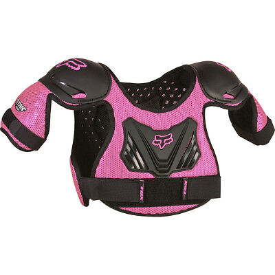 NEW Fox Racing Mx Youth Titan Peewee Black Pink Girls Toddler Body Armour