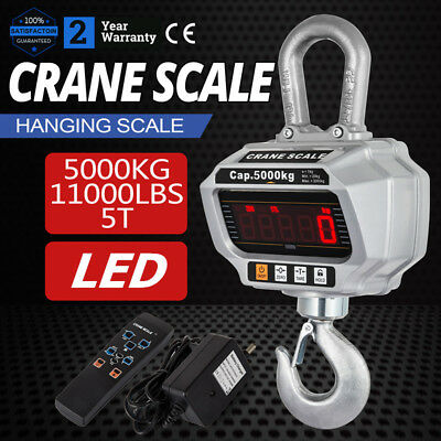 5000 KG / 11000 LBS Digital Crane Scale Heavy Duty Industrial Hanging Scale