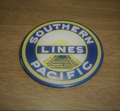 """Used Older Fridge Magnet - Southern Pacific Lines Railroad 2"""""""